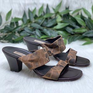 Paul Green Hand Made Wooden Heel Slide Sandal 9